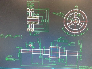 AutoCADでフランジ形固定軸継手の製図です♪